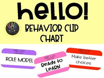 Hello! Behavior Clip Chart