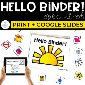 Hello Binder: Life Skills Binder for Special Education