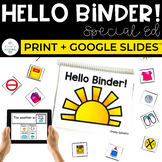 Hello Binder: Morning Work Binder for Special Education