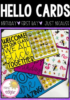 Hello Cards: First Day | Birthday | Just Because | Valentine's Day