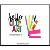 Hello Clip Art - School Supplies