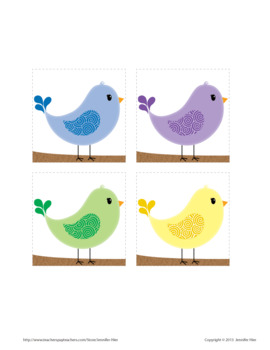 Color Match Activity: Spring Bird Color Match