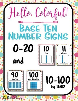 Hello, Colorful! Base Ten Number Posters