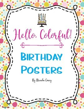 Hello, Colorful! Birthday Months Posters
