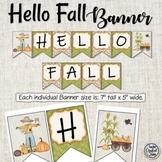 Hello Fall Banner - Fall Leaves - Fall Banner - Bulletin Board