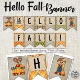 Hello Fall Banner - Scarecrow Banner - Fall Banner -  Bulletin Board