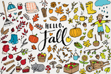 Hello Fall! Clipart - Autumn Clip Art & Illustrations