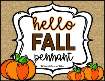 Hello Fall Pennant
