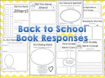 Hello, First Grade! {Beginning of the Year Writing Activities & Book Responses}