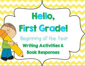 Hello, First Grade! {Beginning of the Year Writing Activit