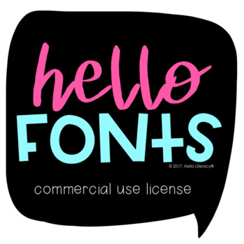 Hello Fonts by Jen Jones: Commercial Use