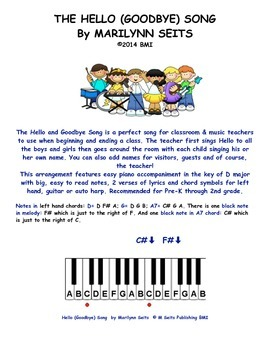 Hello (Goodbye) Song -- Piano Song for starting and ending classes