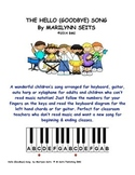 Hello (Goodbye) Song - With letter names, finger numbers a