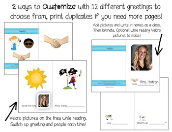 Greetings: Customizable Interactive Books for Special Education