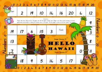 Hello Hawaii 0 - 20 Recognition Board Game
