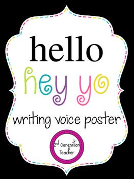 Hello/Hey Yo Writing Voice Poster
