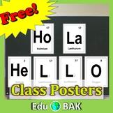 Hello/HoLa Periodic Elements Posters Science STEM Printabl