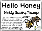 Hello Honey! - Weekly Reading Passage and Questions