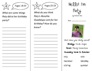 Hello! I'm Paty Trifold - 2nd Grade Literacy By Design Theme 2