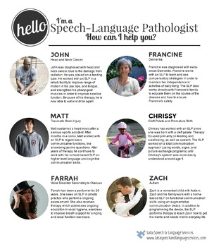 Hello, I'm an SLP. How can I help you?