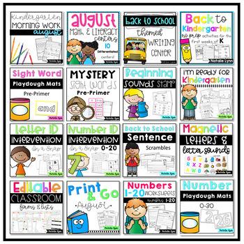 Hello Kindergarten - The ULTIMATE Bundle For New Kindergarten Teachers