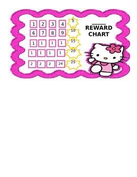 Hello Kitty Reward/Stamp Chart