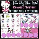 Hello Kitty Token Boards - 12 Tokens + 3 Templates  / VIPK