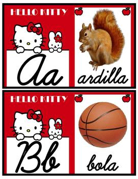 Hello Kitty abc in Spanish