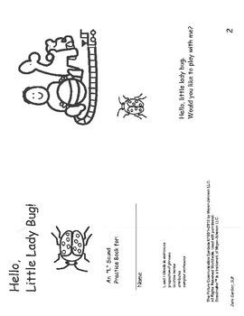 Hello Little Ladybug- mini book