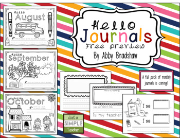 Hello Monthly Journal Covers and Pages Preview (Aug-Oct)