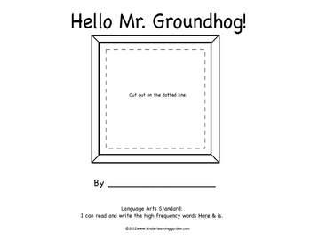 Hello Mr. Groundhog! Theme Book