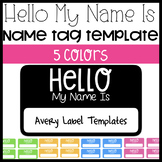 Hello My Name Is Avery Label Name Tag Template