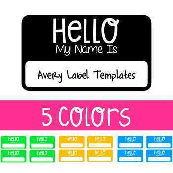 hello my name is avery label name tag template by thrills and frills