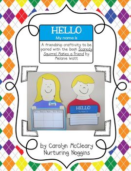 Hello, My Name Is (Back to School Craftivity)