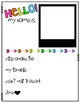 Hello My Name Is - Back to School Printable
