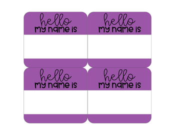 Hello My Name Is Editable Tags