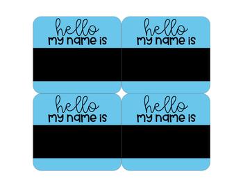 Hello My Name Is Editable Name Tags