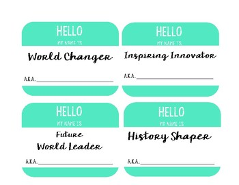 Hello My Name Is Inspired desk tags / nameplates for daily truth
