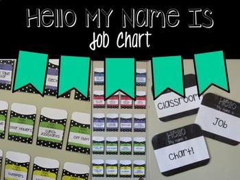 Hello My Name Is Job Chart