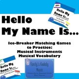 Hello My Name Is Music Instruments and Symbols Bundle