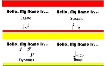Hello My Name Is... Musical Symbols