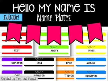 Hello My Name Is Name Plates