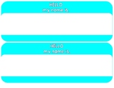 Hello My Name Is Nameplates
