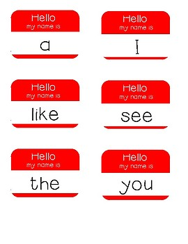 Hello My Name Is - Sight Word Practice 25 of Fry's List