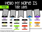 Hello My Name Is Table Labels