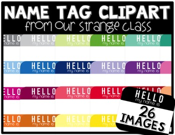 """Hello My Name Is"" Tags (Graphics for Comercial Use)"