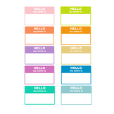 Hello My Name Is ______ Labels { Digital Clip Art }