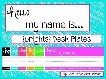 Hello, My Name Is... {brights} Desk/Name Plates