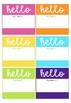 Hello! Name Desk Lables
