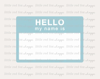 Hello Name Tag Label Clipart; Label, Vintage
